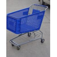Buy cheap Plastic Supermarket Shopping Carts , Color Powder Coating Shopping Trolleys product