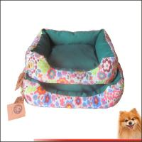 Buy cheap Dog beds online Canvas fabric dog beds with flower printed China manufacturer product