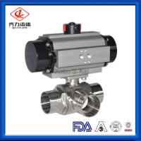 China L Or T Type Sanitary Ball Valves Butt Weld Pharmacy Chemical Fluids Use on sale
