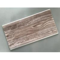 Buy cheap Recyclable Brown PVC Wood Panels Easy Maintenance 2.5kg/Sqm - 3kg/Sqm from wholesalers