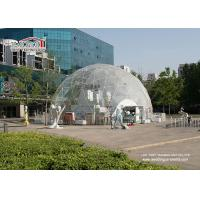 Buy cheap Giodesic wedding party tent for 100-10000 people for sale transparent PVC cover from wholesalers