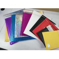 China Multicolor Shiny Shipping Bubble Mailers , Durable Padded Letter Envelopes on sale