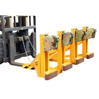 Buy cheap Four Drums Lifting Once Forklift Attachments Drum Handling for Library / Restaurant from wholesalers