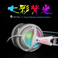Buy cheap XIBTER Professional Gaming Headset 7.1 Surround Sound Emitting Vibration Function USB Headphone For PC Game P4P product