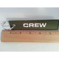 China Jeppesen  A Boeing Company Flight Fabric Embroidery Tag Keychain Crew  Olive Green on sale