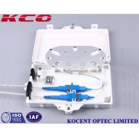 Buy cheap 2 Port 1x2 Ofc Fibre Optic Cable Termination Boxes FTTH IP67 Waterproof product