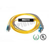 Buy cheap 1x2 1310/1550nm Fused Fiber Optic Splitter 2mm Corning OS2 Cable with SC/UPC Connector product