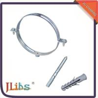 Buy cheap Durable 6 Inch Galvanized Pipe Clamps Anti Corrosion 4 Point Welding product