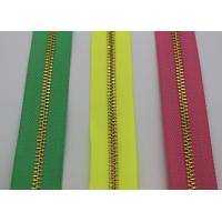 Buy cheap Bright Color Tape 10 Inch Separating Zipper , Long Chain Coil Zipper By The Yard product