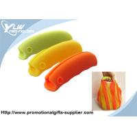 Buy cheap Customized Promotional Gifts orange, green, yellow, coffee silicone shopping handle product
