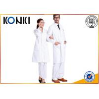 Cheap Comfortable White Medical Scrubs Uniforms , Medical Lab Coats For Doctor wholesale
