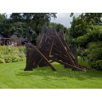 Buy cheap Handicraft Corten Steel Sculpture Triangle Shape For Holiday Resort Ornaments product