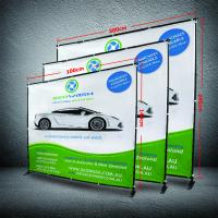 Buy cheap 8 X 8 Collapsible Display Stand , Dye - Sub Printing Retractable Banner Display product