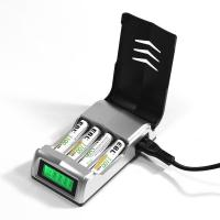 Buy cheap LCD Rapid 4 Slot Smart Rechargeable Battery Charger for AA AAA NiMH NiCD Battery product
