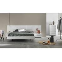 Buy cheap White Gloss Bedroom Furniture Sets With Big Headboard King Size Bed For Hotel Or Villa product