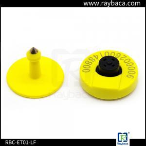 China RBC-ET01 LF RFID Animal Ear Tag Round Shape 30.0mm Diameter For Livestock Tracking on sale