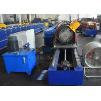 Buy cheap Storage Rack Vertical Post Section Roll Forming Machine With Punching Unit For Various Patterns product