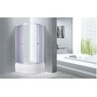 Buy cheap 4mm Tempered smoke Glass Quadrant Shower Enclosures With Handle / Wheels product
