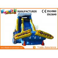 Buy cheap Giant Commercial Inflatable Water Slide / Inflatable Wipe Out Slide from wholesalers