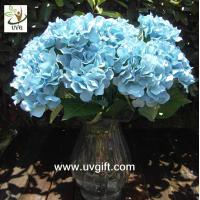 Buy cheap UVG Blue 7 heads artificial cheap hydrangea fabric flowers wedding decoration centerpieces product