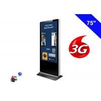 Buy cheap 4K Resolution Floor Standing LCD Advertising Display Kiosk Digital Signage 3G product