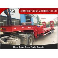 China Heavy duty 40 - 60 ton low flatbed semi trailer excavator carry trucks and trailers on sale