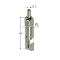 Buy cheap Nickel Plated Grip Lock Grippers 9*34mm Square Hook For Hanging Systems YW86125 from wholesalers