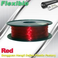 Buy cheap TPU Flexible 3d Printing Filament 1.75 / 3.0 mm  Red and Transparent product
