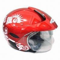 Buy cheap Open-face Helmet with Adjustable 3-plastic Screw Visor, Available from S, M, L and XL Sizes product