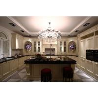 Buy cheap High quality villia project burgunty classical Kitchen cabinet with cheap price from wholesalers