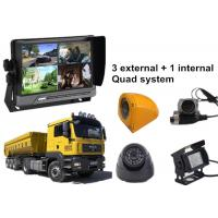 Buy cheap Lorry 4 Security Camera Car DVR AHD 3G GPS WIFI Quad Monitor System product