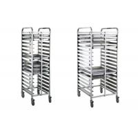 Buy cheap Bread Baking Equipment Tray Rack , Stainless Steel Mobile Trolley For Kitchen product