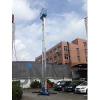 China 14 Meter Aluminum Alloy Aerial Work Platform Blue Color For Window Cleaning on sale