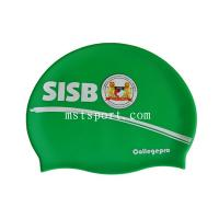 Buy cheap silicone swim hat with logo and colorful swim cap product