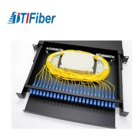 Buy cheap Distribution Patch Panel Fiber Optic Terminal Box 24 48 96 Ports LC SC 19