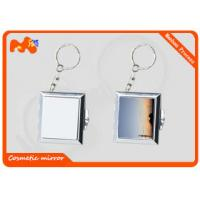 Buy cheap Square Sublimation Metal Blanks Mirror , Colorful Compact Makeup Mirror from wholesalers