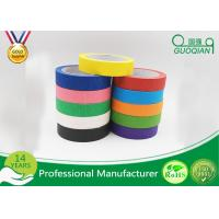 China 1 x 60 Yards Crepe Paper Colored Masking Tape Set For Walls , Scrapbook on sale