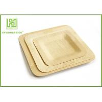 Buy cheap Large Square Disposable Wooden Plates And Utensils Environmental Protection product