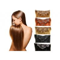 Buy cheap Full Ends Seamless Easy Clip In Human Hair Extensions For Black Women from wholesalers