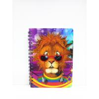 Buy cheap 400 DPI PET / PP A6 3D Lenticular Notebook / Spiral Diary Book product