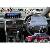 Buy cheap Android 7.1 Multimedia Video Interface for 2015-2018 Lexus RX 200t 12.3 Inch Screen , Built in WIFI BT Mirrorlink product