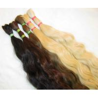 Buy cheap 100% double drawn human hair bulk at good quality product