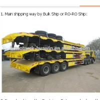 Buy cheap Diesel Hydraulic Low Bed Trailer / Mobile Workshop Low Loader Trailer product