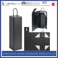 China High Durabilty Custom Rigid Boxes , Cardboard Gift Boxes For Bottle Wines on sale