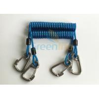 Buy cheap Security 316# Carabiner Snap Hook Blue Spring Elastic Plastic Coiled Tethers product
