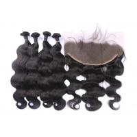 Buy cheap Body Wave 13x6 Full Lace Frontal Closure Good Feeling Resilient With 4 Bundles product