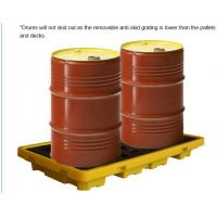 Buy cheap Detachable plastic 4 drum oil spill pallet, 1300*660*150 mm 2 drum spill containment pallet, Nestable 2 drum spill conta from wholesalers