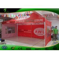 Buy cheap 10ft*20ft Red Folding Canopy Tent / Large Pop Up Tent For Trade Show product