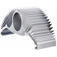China Silver Anodize Extruded Aluminum Heat Sink High Efficiency Heat Dissipation For Motor Housing on sale