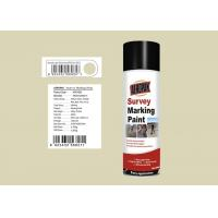 Buy cheap 158mm Height Marking Spray Paint  Light Yellow Grey Color ForTraffic Accidents product